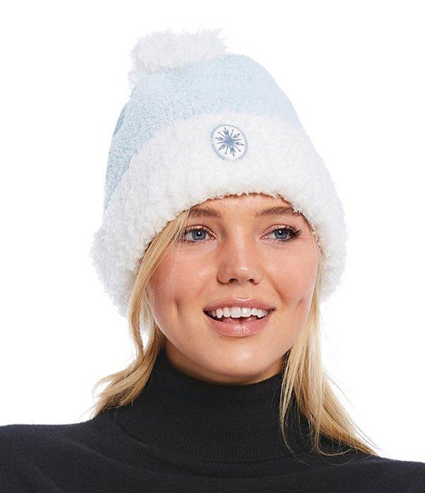 送料無料 サイズ交換無料 ベアフットドリームス レディース 信頼 アクセサリー 帽子 Ice Blue 新品 Frozen Cozy Disney Slouchy Collection Multi Beanie Chic