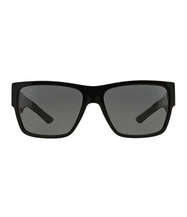 ヴェルサーチ メンズ サングラス・アイウェア アクセサリー Rock Greca Sunglasses Black