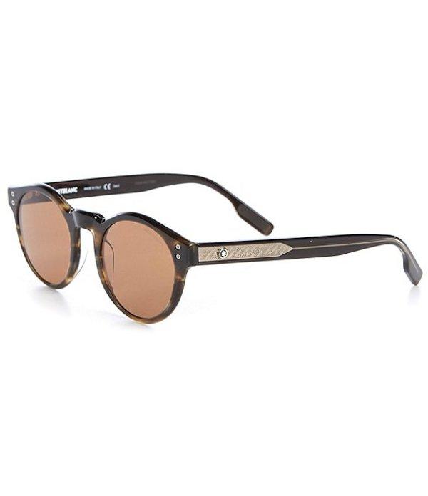 送料無料 サイズ交換無料 卓抜 モンブラン メンズ アクセサリー サングラス Men's ☆新作入荷☆新品 Round Havana 49mm アイウェア Sunglasses