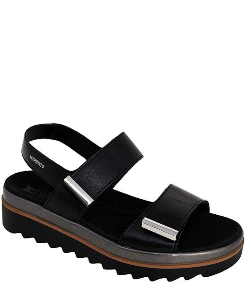 休み 送料無料 サイズ交換無料 メフィスト レディース シューズ セール品 サンダル Dominica Wedge Sandals Black Leather