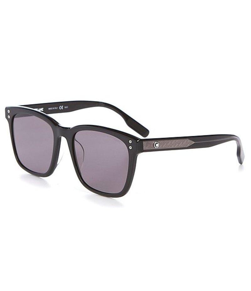 <title>送料無料 サイズ交換無料 モンブラン メンズ アクセサリー サングラス アイウェア Black Men's Square 予約 55mm Sunglasses</title>