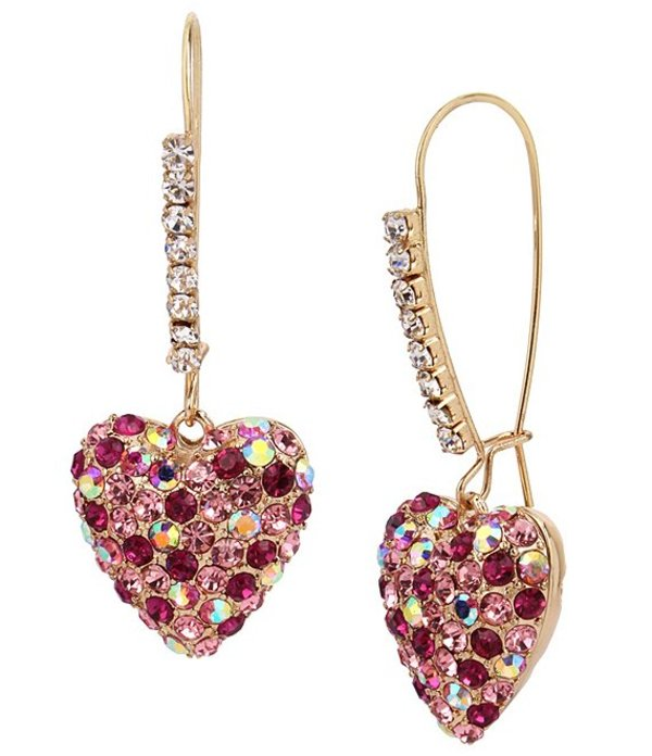 送料無料 サイズ交換無料 ベッツィジョンソン レディース アクセサリー ピアス 贈答品 Heart Pave イヤリング Earrings Dangle 返品交換不可 Pink