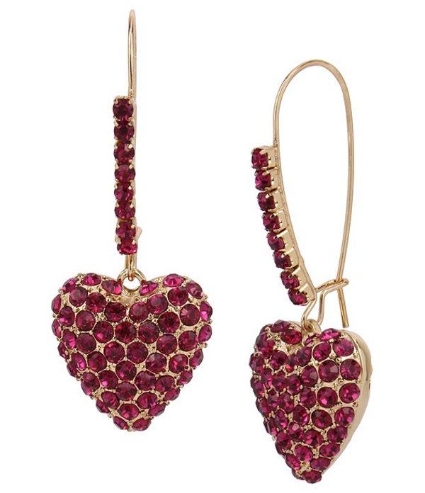 送料無料 ※ラッピング ※ サイズ交換無料 ベッツィジョンソン レディース アクセサリー ピアス Dangle Heart Earrings Fuchsia Pave イヤリング 爆買い新作
