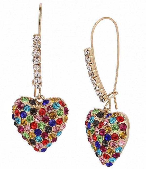 送料無料 サイズ交換無料 ベッツィジョンソン 引き出物 レディース アクセサリー ピアス Pave Multicolor マート イヤリング Heart Earrings Dangle
