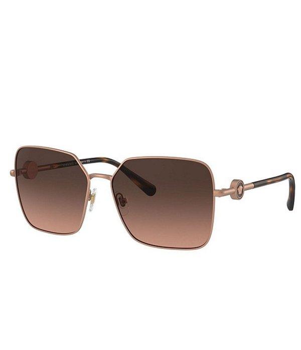 人気新品 ヴェルサーチ レディース サングラス Gold・アイウェア ヴェルサーチ Matte アクセサリー Women's Ve2227 Square 59mm Sunglasses Matte Pale Gold, KAFKASHOP:0ac972f4 --- beautyflurry.com