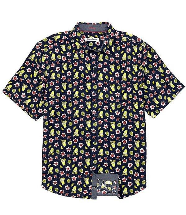 送料無料 サイズ交換無料 トッミーバハマ メンズ トップス シャツ Ocean Deep Shirt Bartender Short-Sleeve Bloom 蔵 直輸入品激安 Woven