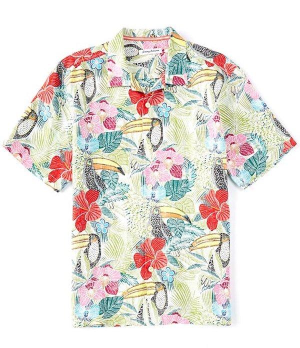 ショッピング 送料無料 訳ありセール 格安 サイズ交換無料 トッミーバハマ メンズ トップス シャツ Vanilla Ice Toucan One If Linen Woven Shirt Can Short-Sleeve