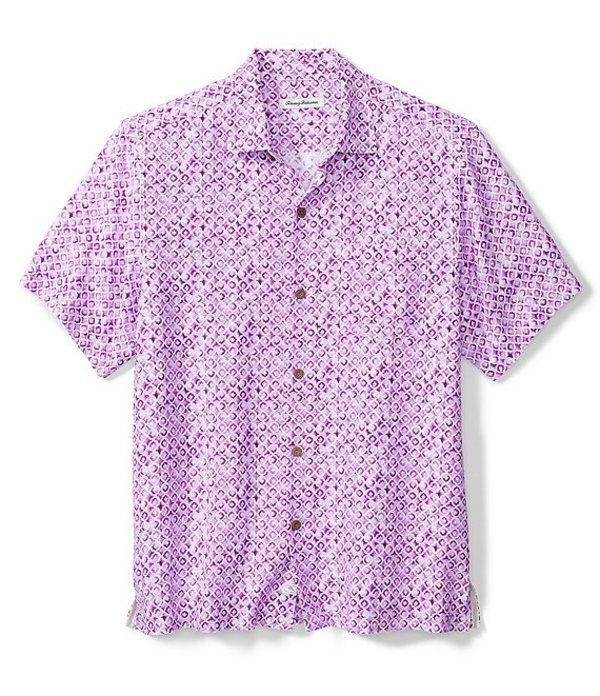 メーカー直売 送料無料 サイズ交換無料 トッミーバハマ メンズ トップス シャツ 激安通販専門店 Pink Woven Island Tile Corsage Shirt Short-Sleeve