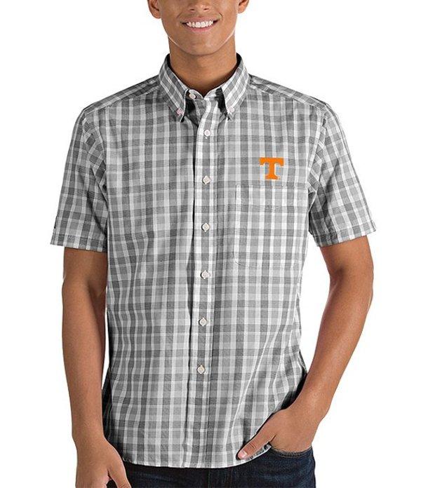 アンティグア メンズ シャツ トップス NCAA Crew Short-Sleeve Woven Shirt Tennessee Volunteers