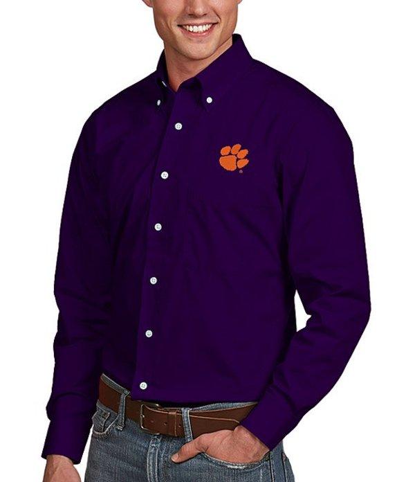 アンティグア メンズ シャツ トップス NCAA Dynasty Long-Sleeve Woven Shirt Clemson Tigers