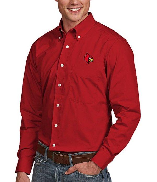 アンティグア メンズ シャツ トップス NCAA Dynasty Long-Sleeve Woven Shirt Louisville Cardinals