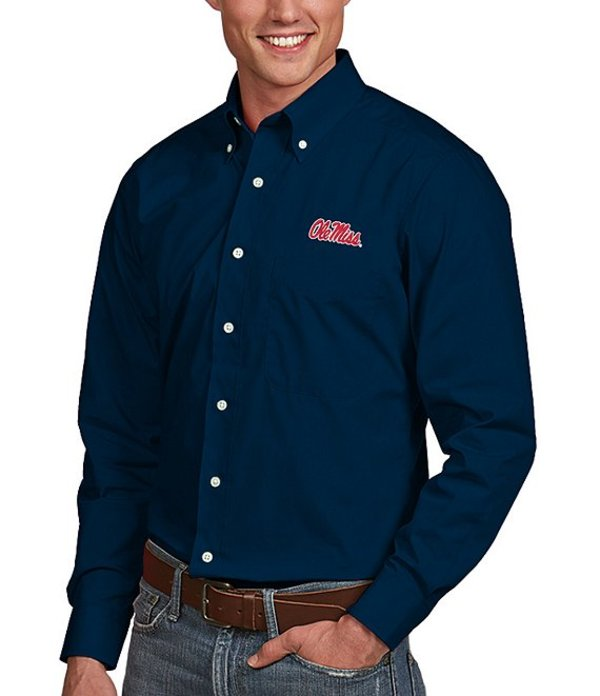 アンティグア メンズ シャツ トップス NCAA Dynasty Long-Sleeve Woven Shirt Ole Miss Rebels