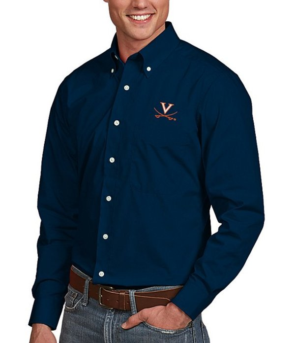 アンティグア メンズ シャツ トップス NCAA Dynasty Long-Sleeve Woven Shirt Virginia Cavaliers