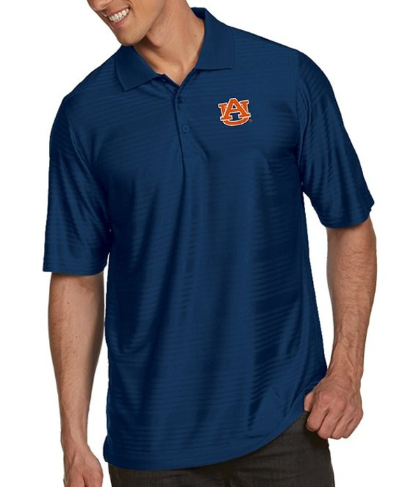 アンティグア メンズ シャツ トップス NCAA Illusion Short-Sleeve Polo Shirt Auburn Tigers Navy