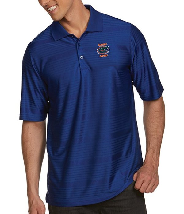 アンティグア メンズ シャツ トップス NCAA Illusion Short-Sleeve Polo Shirt Florida Gators Dark Royal