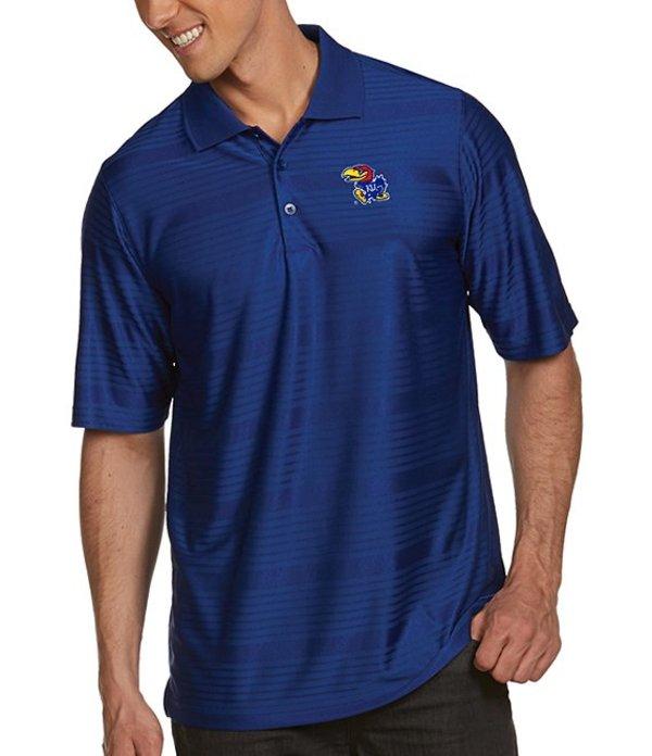 アンティグア メンズ シャツ トップス NCAA Illusion Short-Sleeve Polo Shirt Kansas Jayhawks Dark Royal