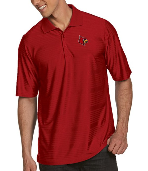 アンティグア メンズ シャツ トップス NCAA Illusion Short-Sleeve Polo Shirt Louisville Cardinals Dark Red