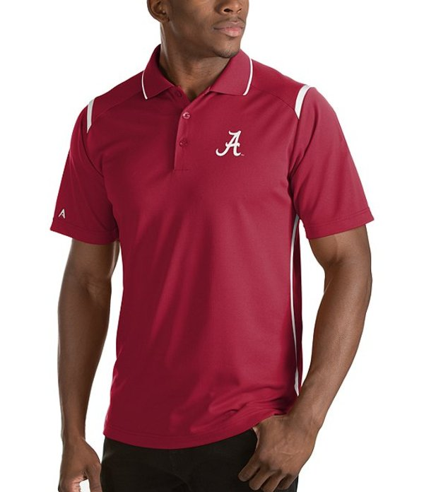 アンティグア メンズ シャツ トップス NCAA Merit Short-Sleeve Polo Shirt Alabama Crimson Tide Cardinal Red