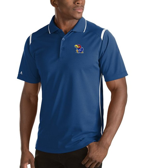 アンティグア メンズ シャツ トップス NCAA Merit Short-Sleeve Polo Shirt Kansas Jayhawks Dark Royal