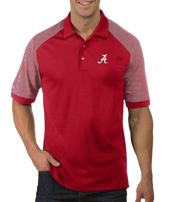 アンティグア メンズ シャツ トップス NCAA Engage Short-Sleeve Polo Shirt Alabama Crimson Tide Red