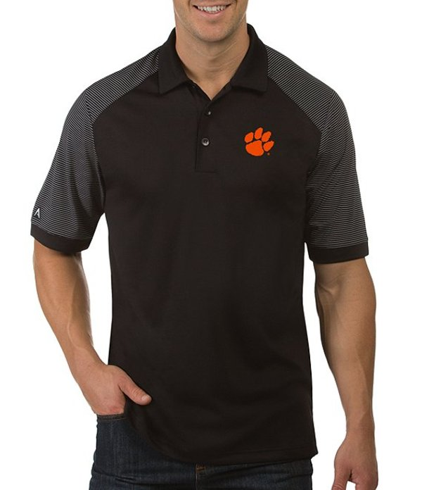 アンティグア メンズ シャツ トップス NCAA Engage Short-Sleeve Polo Shirt Clemson Tigers Black