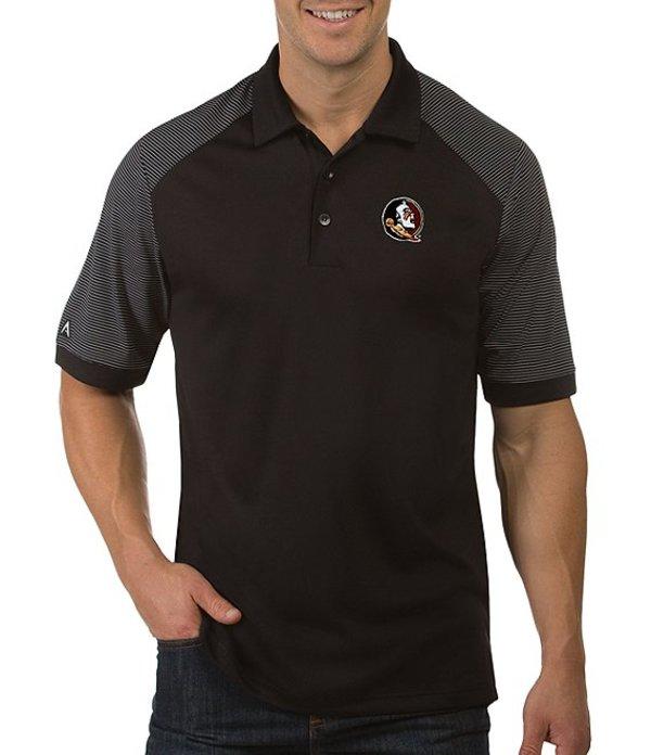 アンティグア メンズ シャツ トップス NCAA Engage Short-Sleeve Polo Shirt Florida State Seminoles Black