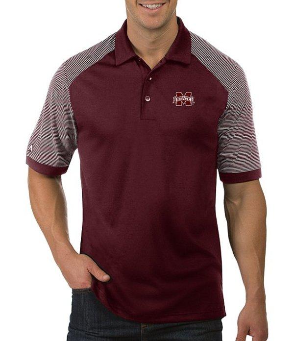アンティグア メンズ シャツ トップス NCAA Engage Short-Sleeve Polo Shirt Mississippi State Bulldogs Maroon