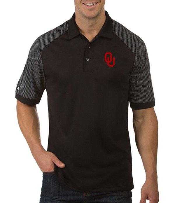 アンティグア メンズ シャツ トップス NCAA Engage Short-Sleeve Polo Shirt Oklahoma Sooners Black
