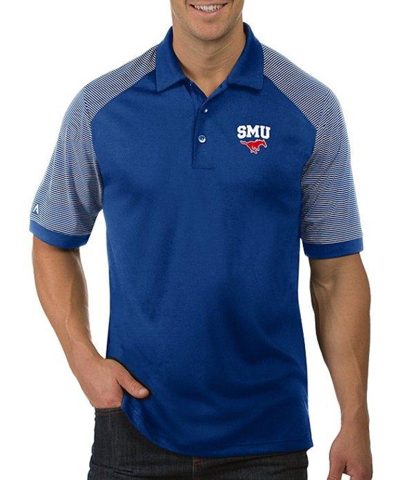 アンティグア メンズ シャツ トップス NCAA Engage Short-Sleeve Polo Shirt SMU Mustangs Blue