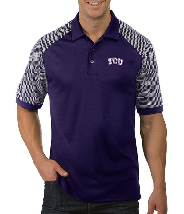 アンティグア メンズ シャツ トップス NCAA Engage Short-Sleeve Polo Shirt TCU Horned Frogs Purple