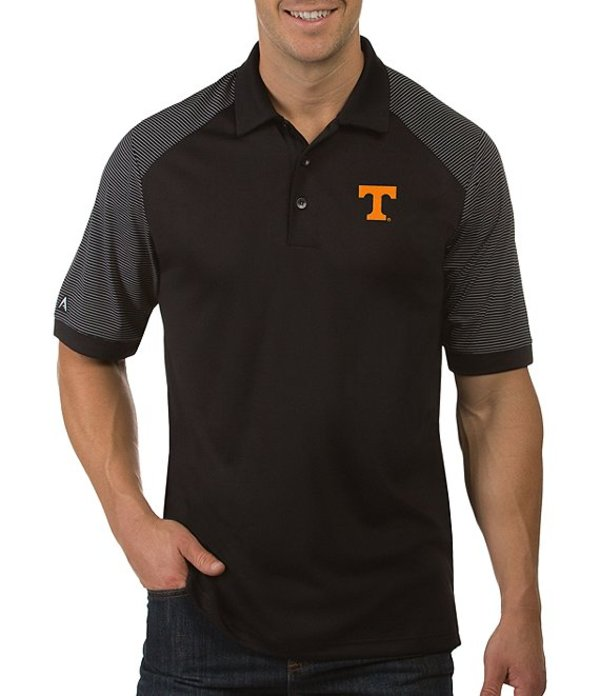 アンティグア メンズ シャツ トップス NCAA Engage Short-Sleeve Polo Shirt Tennessee Volunteers Black