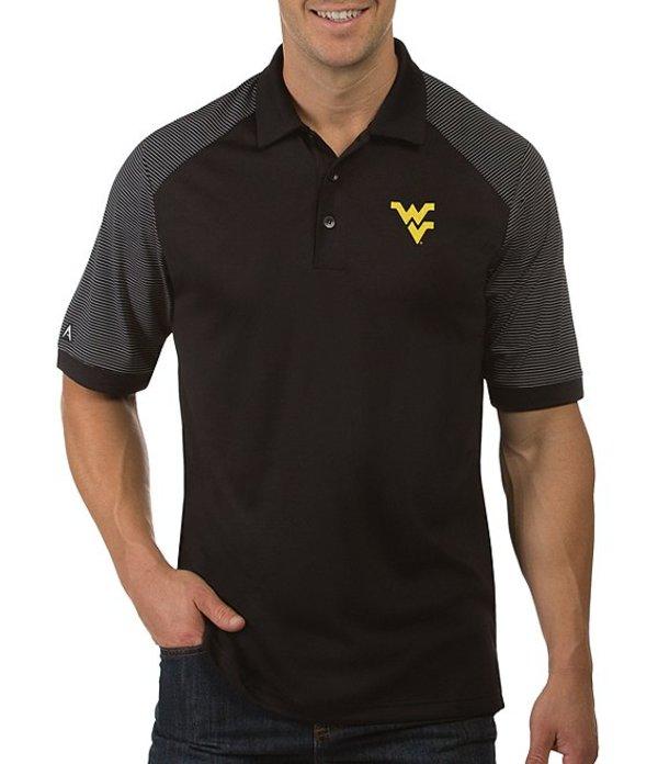 アンティグア メンズ シャツ トップス NCAA Engage Short-Sleeve Polo Shirt West Virginia Mountaineers Black