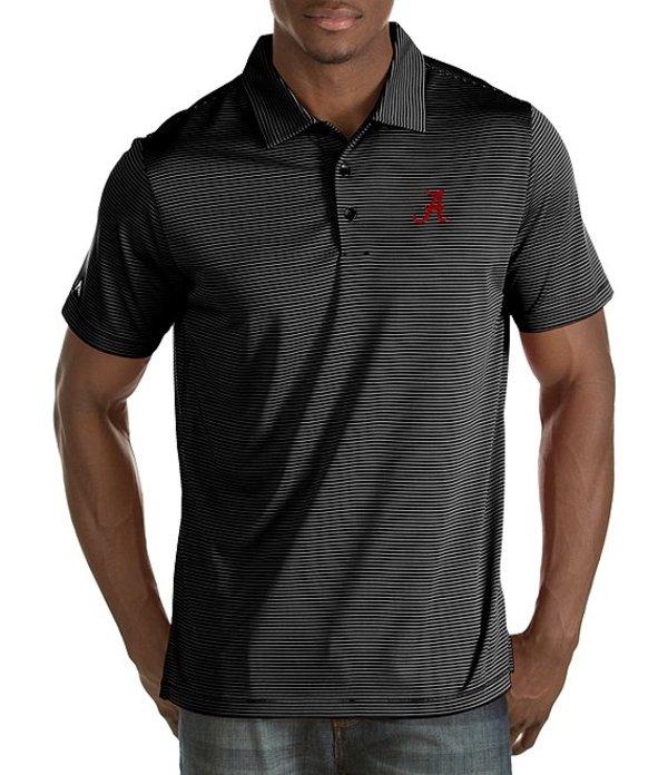 アンティグア メンズ シャツ トップス NCAA Quest Short-Sleeve Polo Shirt Alabama Crimson Tide/Black