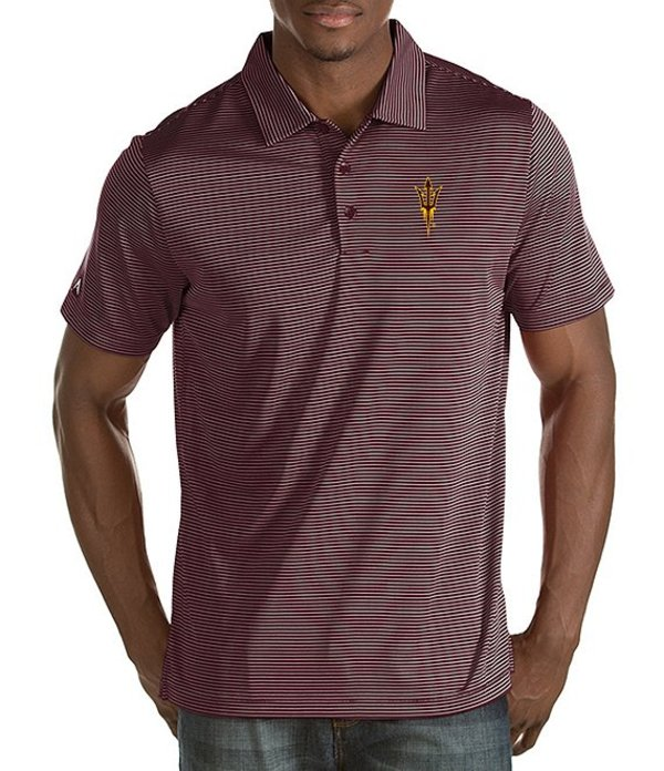 アンティグア メンズ シャツ トップス NCAA Quest Short-Sleeve Polo Shirt Arizona State Sun Devils/Maroon