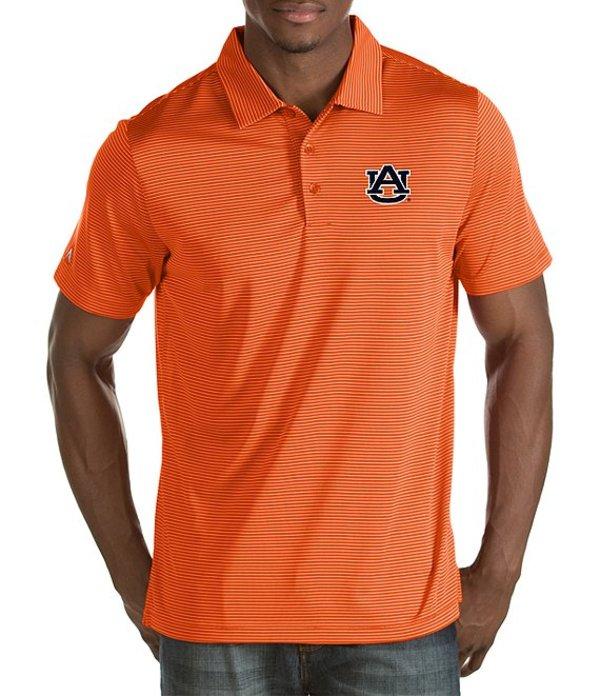 アンティグア メンズ シャツ トップス NCAA Quest Short-Sleeve Polo Shirt Auburn Tigers/Orange