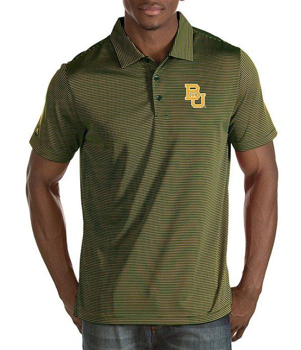 アンティグア メンズ シャツ トップス NCAA Quest Short-Sleeve Polo Shirt Baylor Bears/Green/Gold