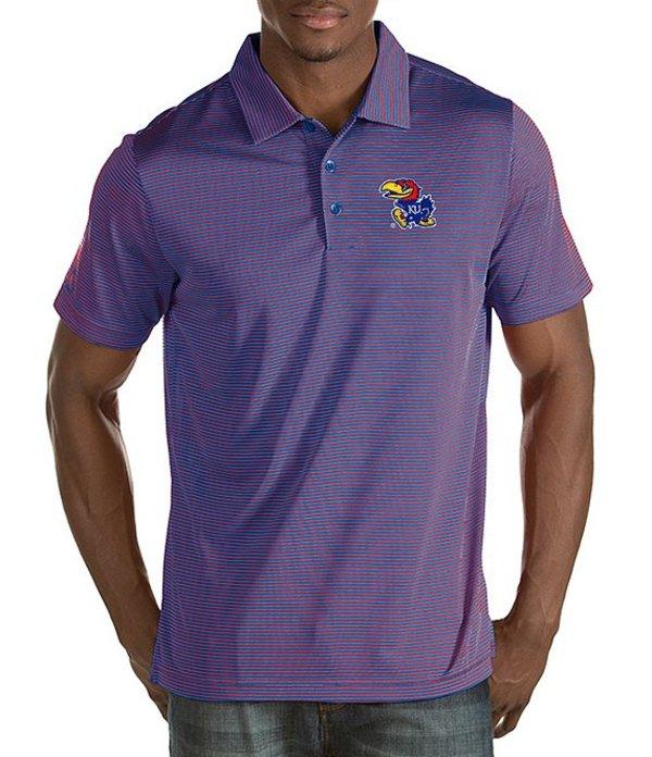 アンティグア メンズ シャツ トップス NCAA Quest Short-Sleeve Polo Shirt Kansas Jayhawks/Royal/Red