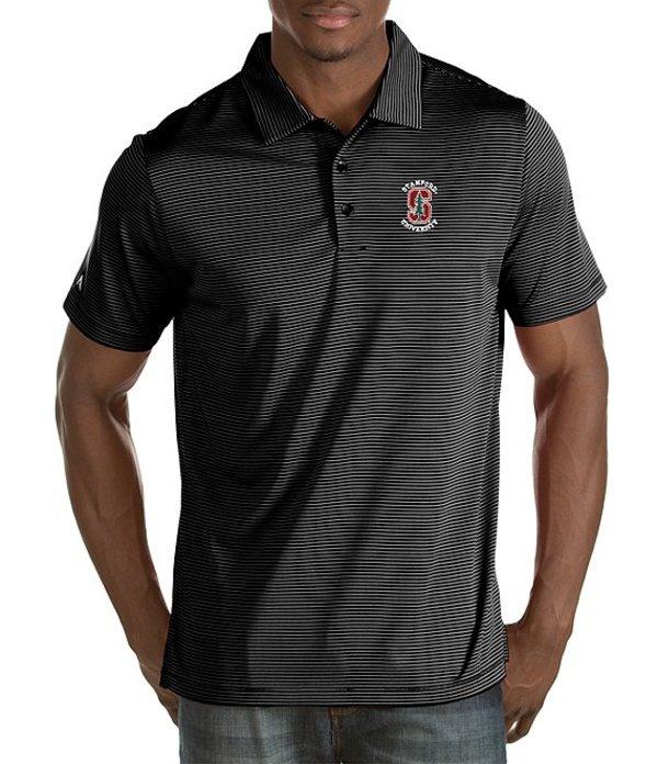 アンティグア メンズ シャツ トップス NCAA Quest Short-Sleeve Polo Shirt Stanford Cardinals/Black