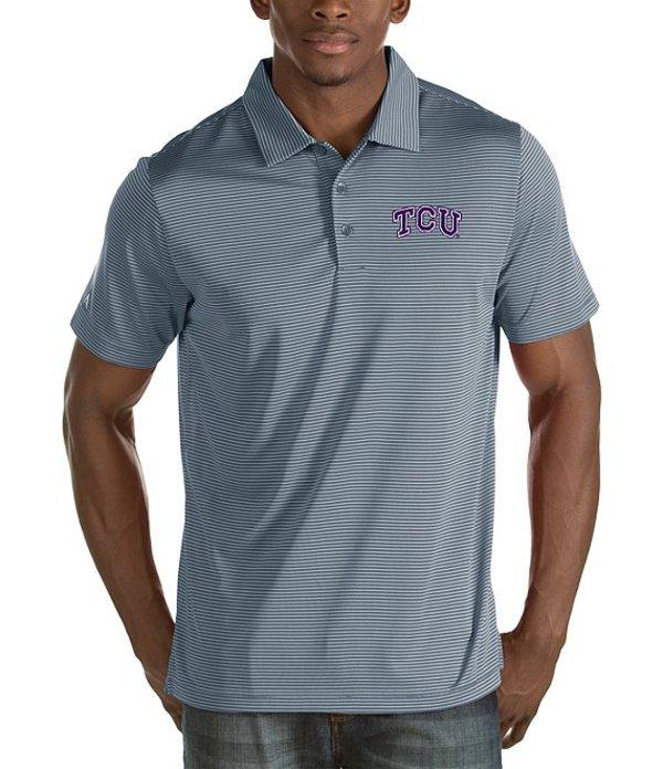 アンティグア メンズ シャツ トップス NCAA Quest Short-Sleeve Polo Shirt TCU Horned Frogs/Grey