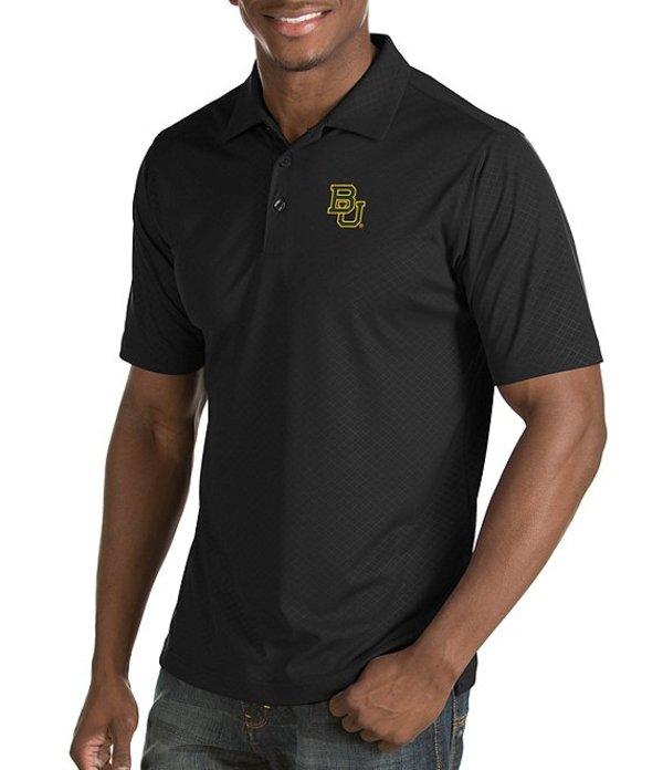 アンティグア メンズ シャツ トップス NCAA Inspire Short-Sleeve Polo Shirt Baylor Bears Black