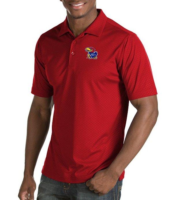 アンティグア メンズ シャツ トップス NCAA Inspire Short-Sleeve Polo Shirt Kansas Jayhawks Red