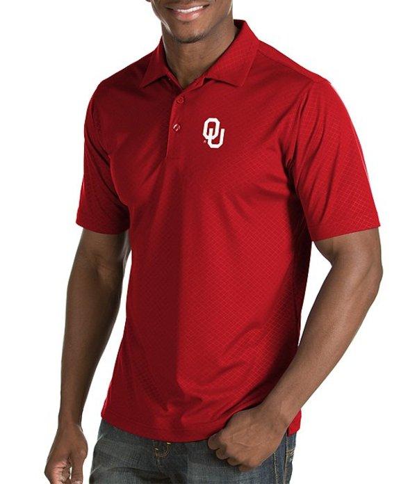 アンティグア メンズ シャツ トップス NCAA Inspire Short-Sleeve Polo Shirt Oklahoma Sooners Red