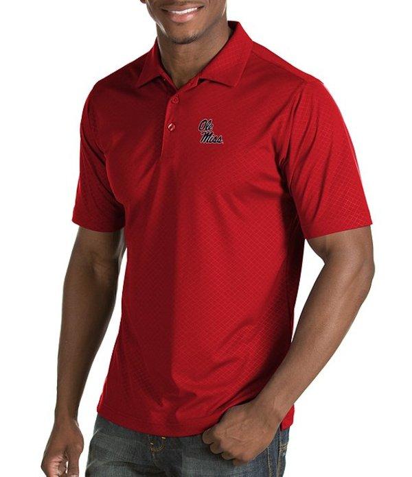 アンティグア メンズ シャツ トップス NCAA Inspire Short-Sleeve Polo Shirt Ole Miss Rebels Red