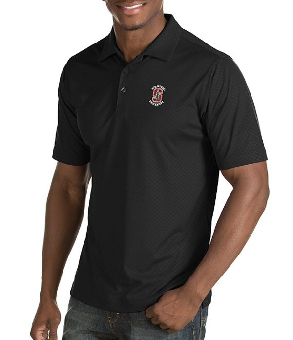 アンティグア メンズ シャツ トップス NCAA Inspire Short-Sleeve Polo Shirt Stanford Cardinals Dark Grey