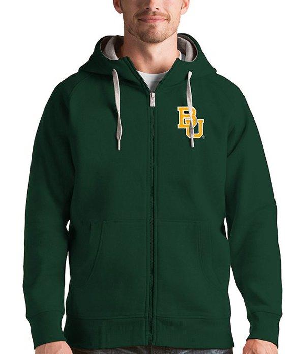アンティグア メンズ パーカー・スウェット アウター NCAA Victory Full-Zip Hoodie Baylor Bears Green