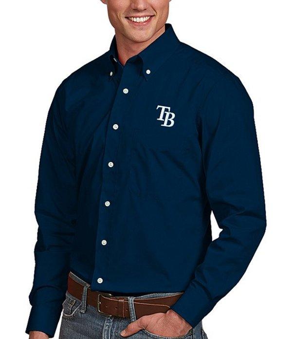 アンティグア メンズ シャツ トップス MLB Dynasty Long-Sleeve Woven Shirt Tampa Bay Rays