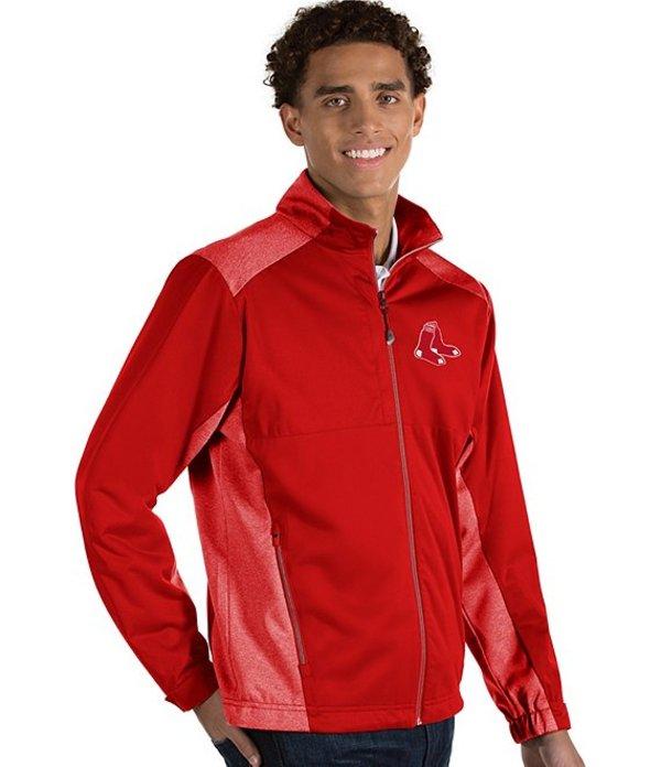 アンティグア メンズ ジャケット・ブルゾン アウター MLB Revolve Full-Zip Waterproof Jacket Boston Red Sox Dark Red/Heather
