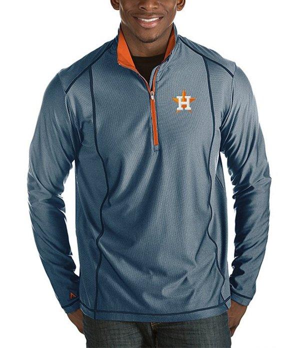アンティグア メンズ パーカー・スウェット アウター MLB Tempo Half-Zip Pullover Houston Astros Navy/Orange