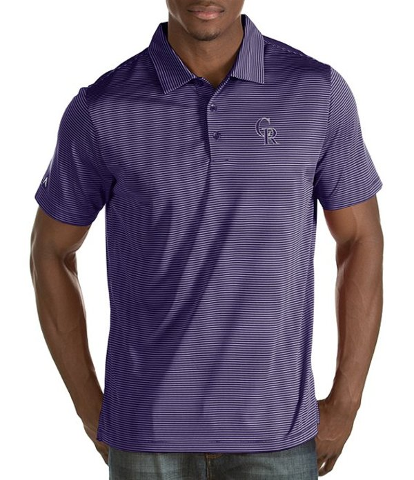 アンティグア メンズ シャツ トップス MLB Quest Short-Sleeve Polo Shirt Colorado Rockies Purple
