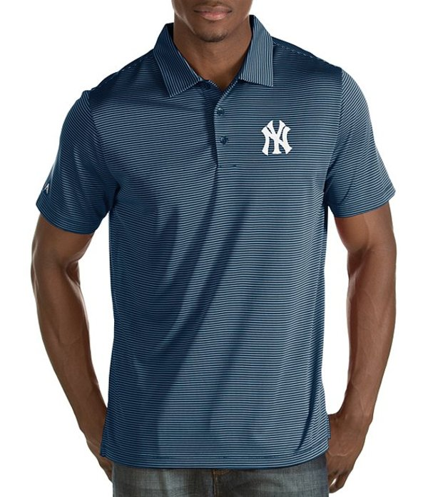 アンティグア メンズ シャツ トップス MLB Quest Short-Sleeve Polo Shirt New York Yankees Navy